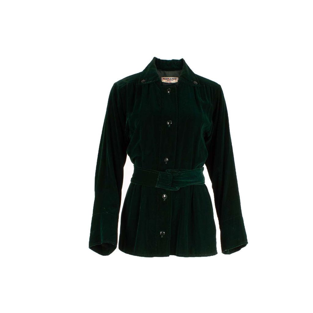 Saint Laurent Green Velvet Jacket