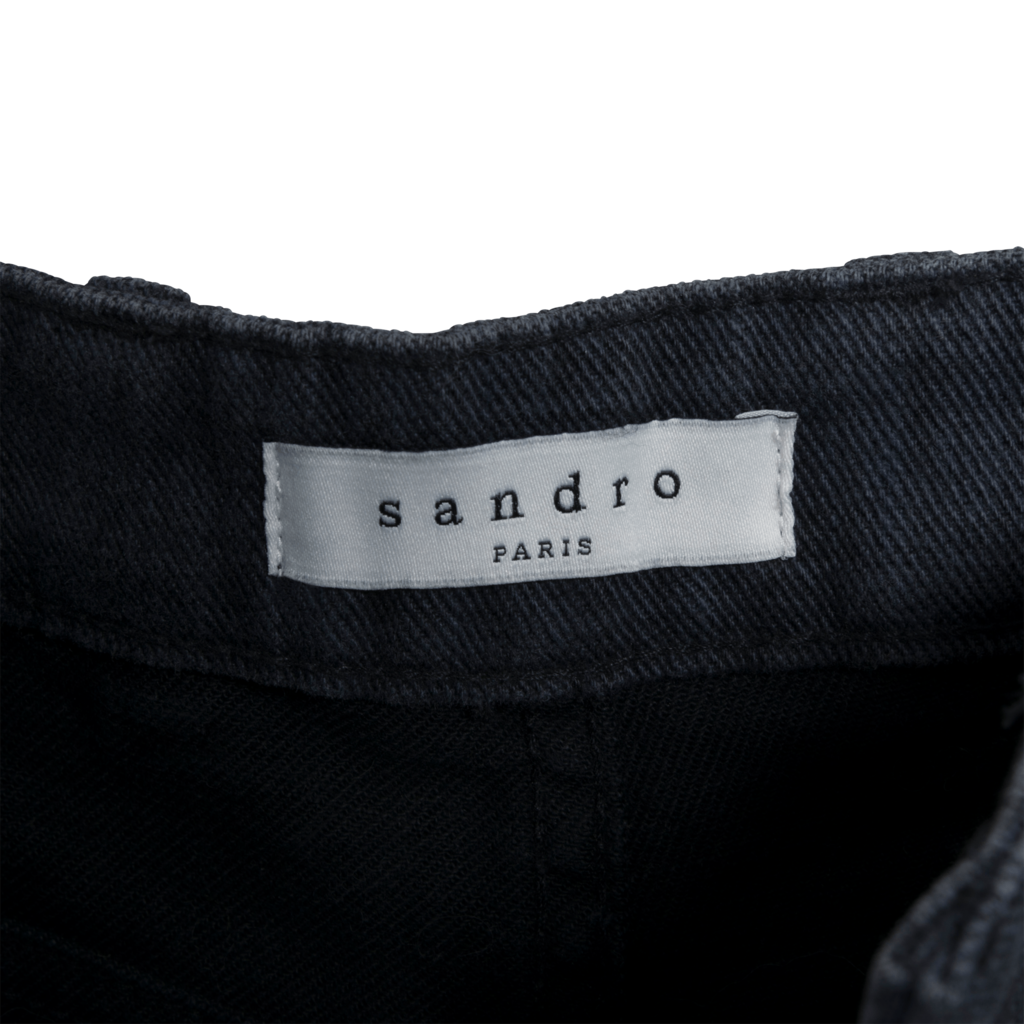 Sandro Frayed Denim Shorts