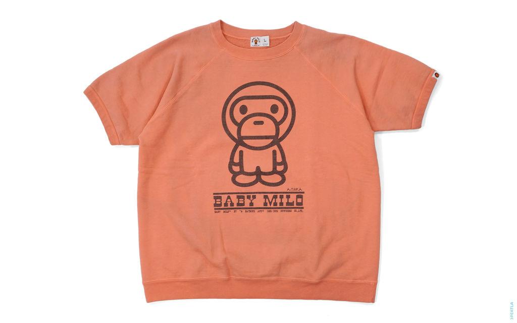 BAPE Mamma Milo Short Sleeve Crewneck Sweatshirt orange