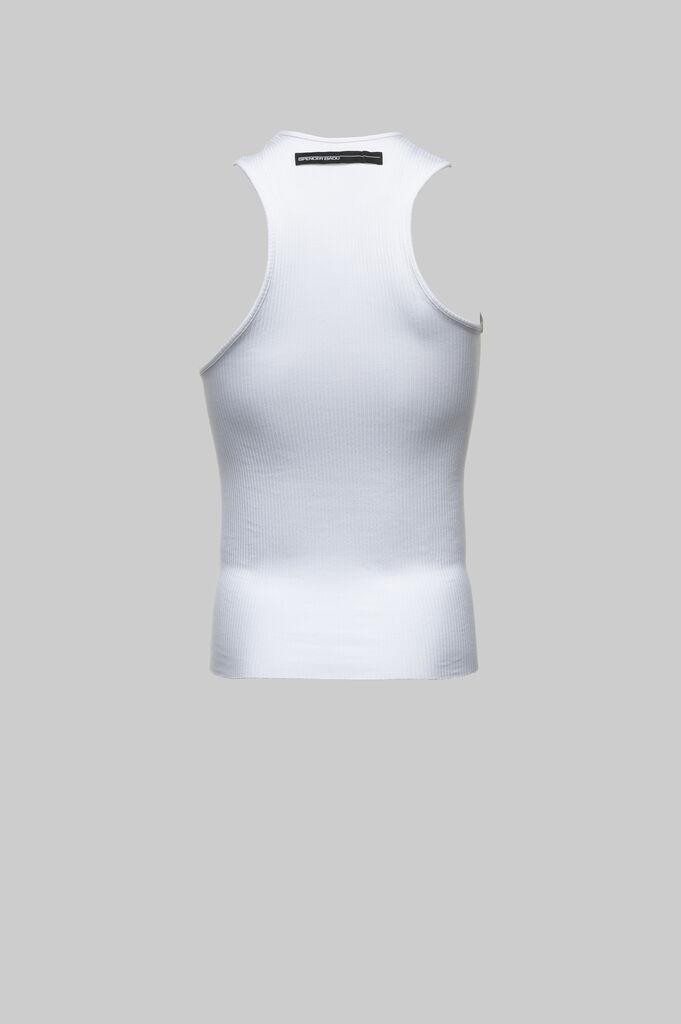 White Asymmetrical Tank Top
