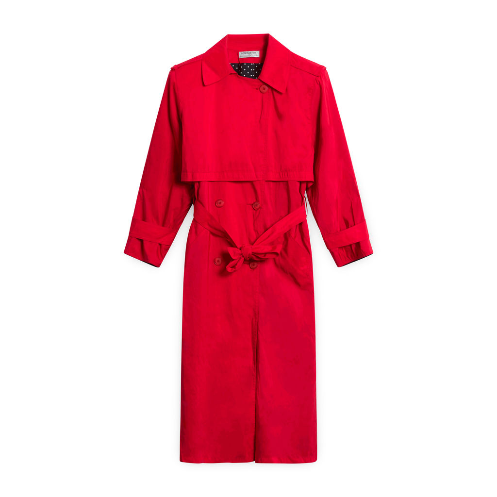 Forecaster of Boston Red Trench Coat