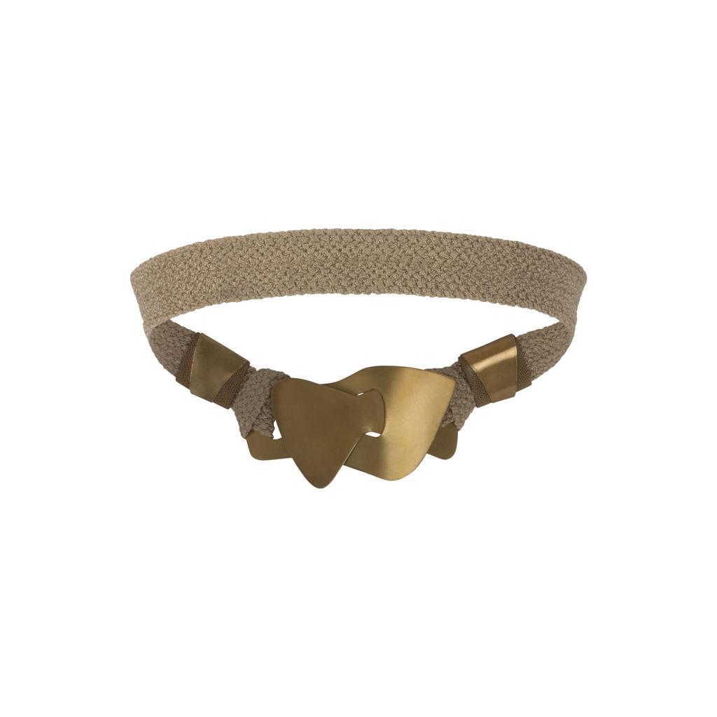 Vintage Brown Bronze Asymmetrical Intertwining Belt