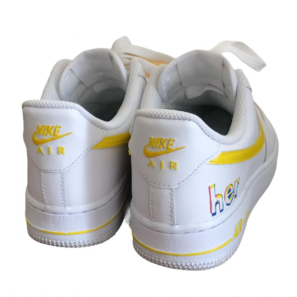 Custom AF1 Shoes - Yellow