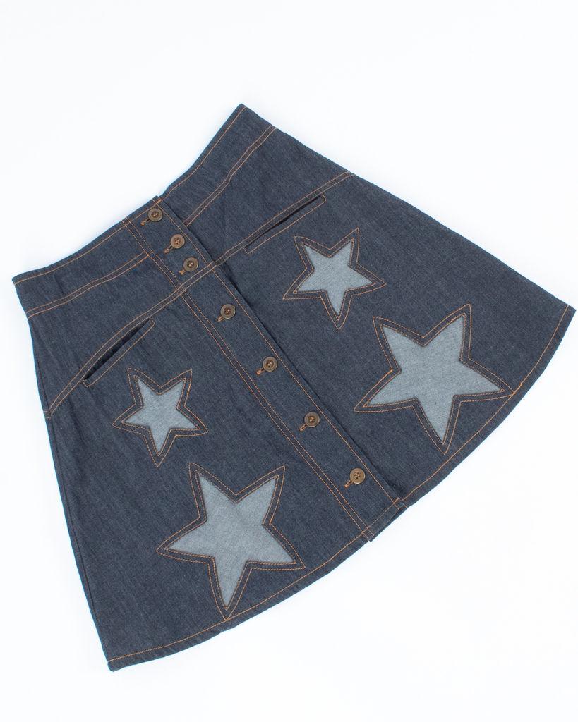 Cleobella A-Line Denim Skirt