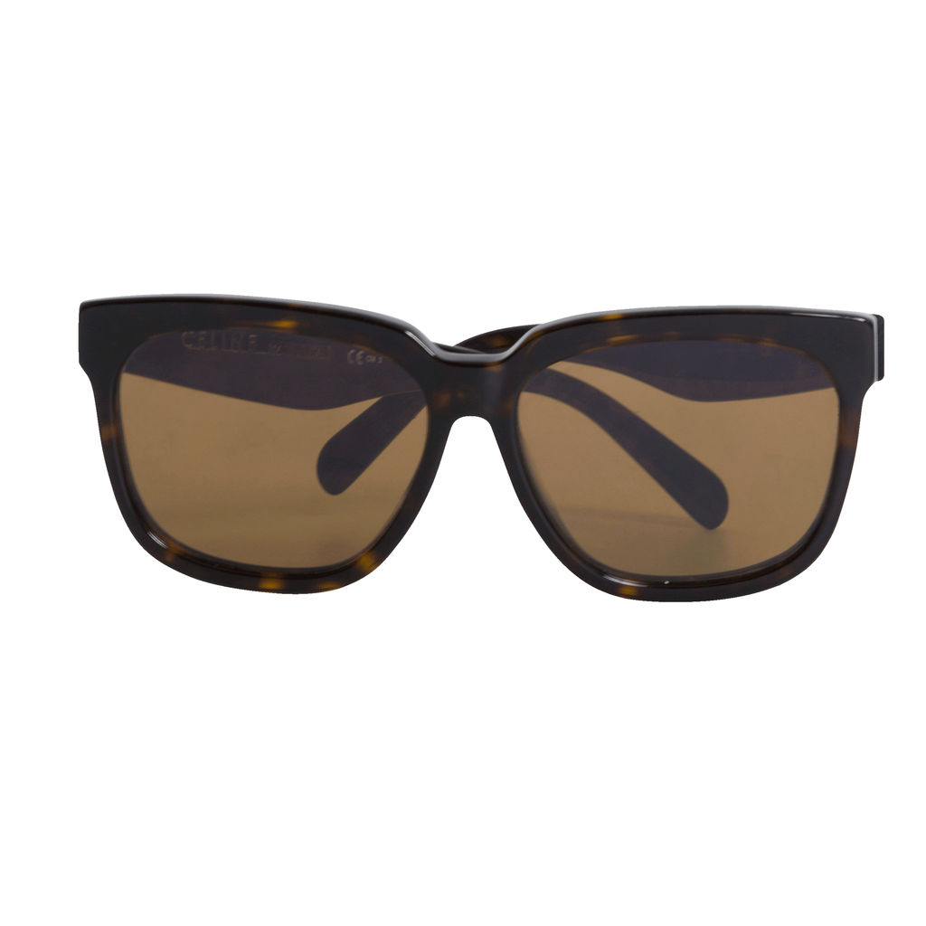 Céline Flat Top Cat Eye Brown Tortoise CL 41060 56mm Sunglasses