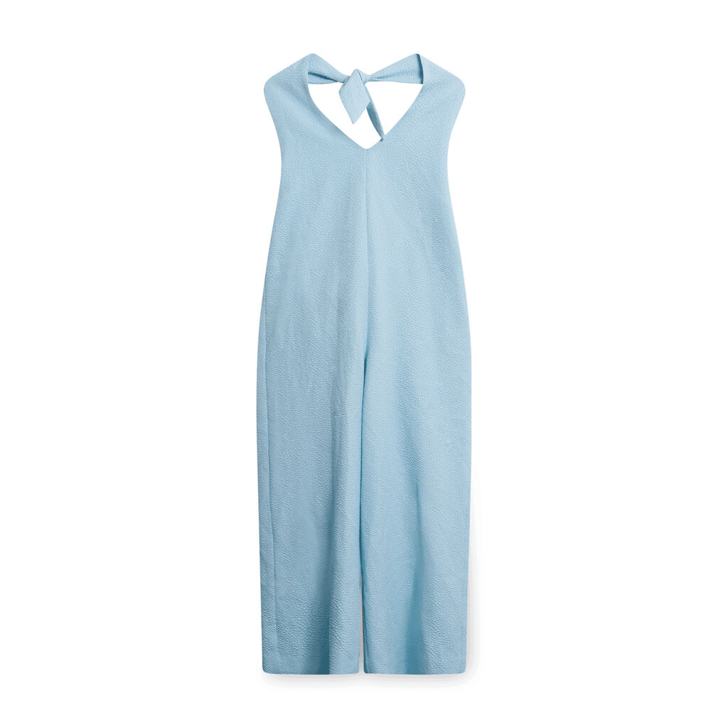 J.Jill Speckled Jumpsuit - Light Blue