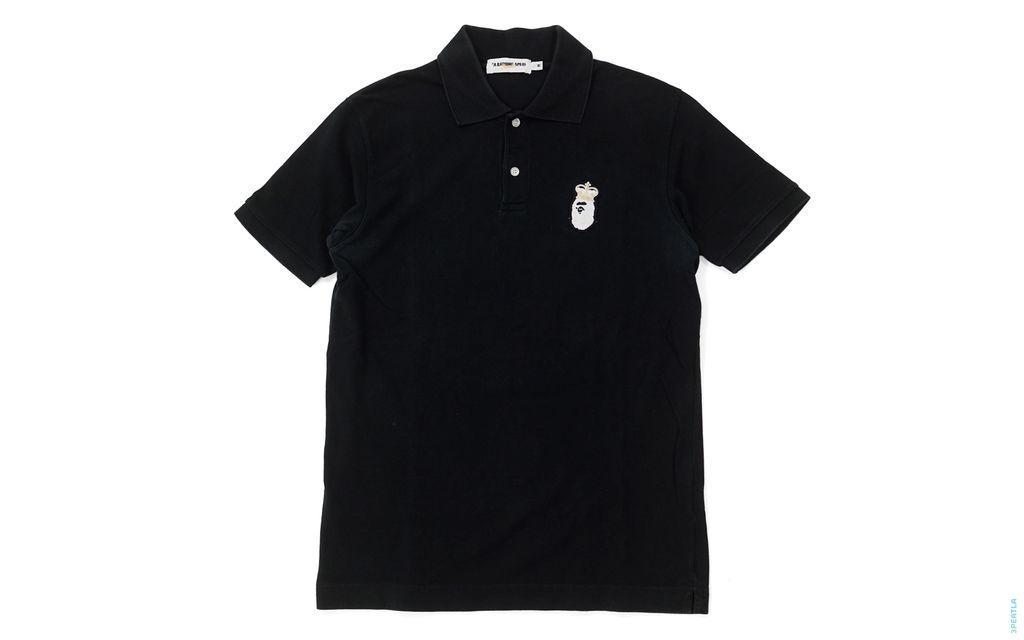 BAPE Crown King Apehead Polo Shirt black