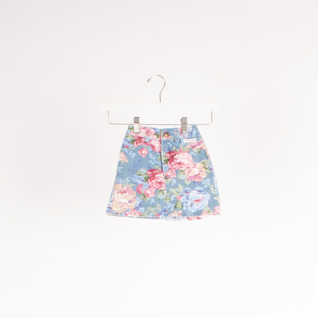Kids Guess Floral Mini Skirt W Velvet Bodysuit Set curated by Erica Hass