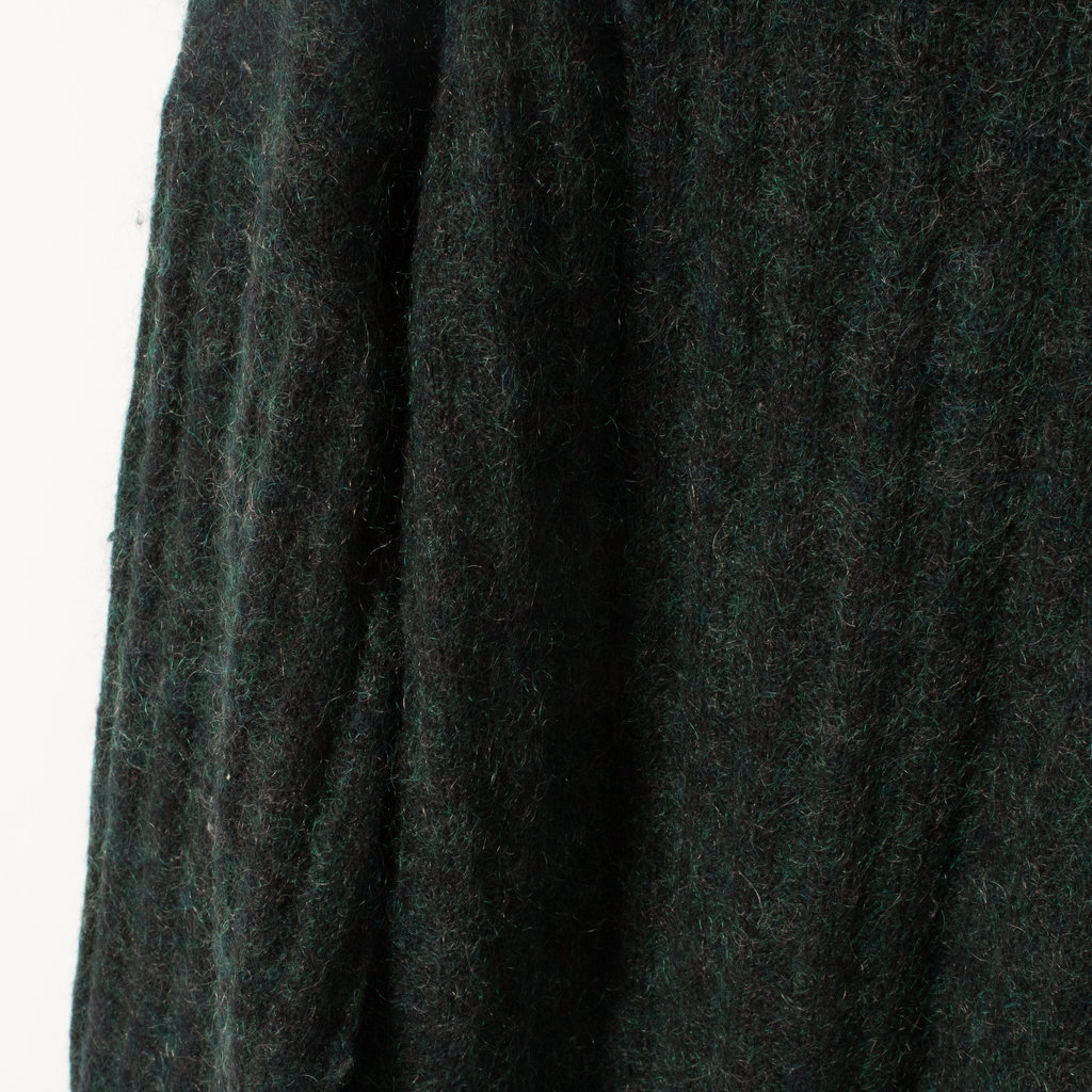 Acne Dania Forest Green Oversized Mohair Sweater