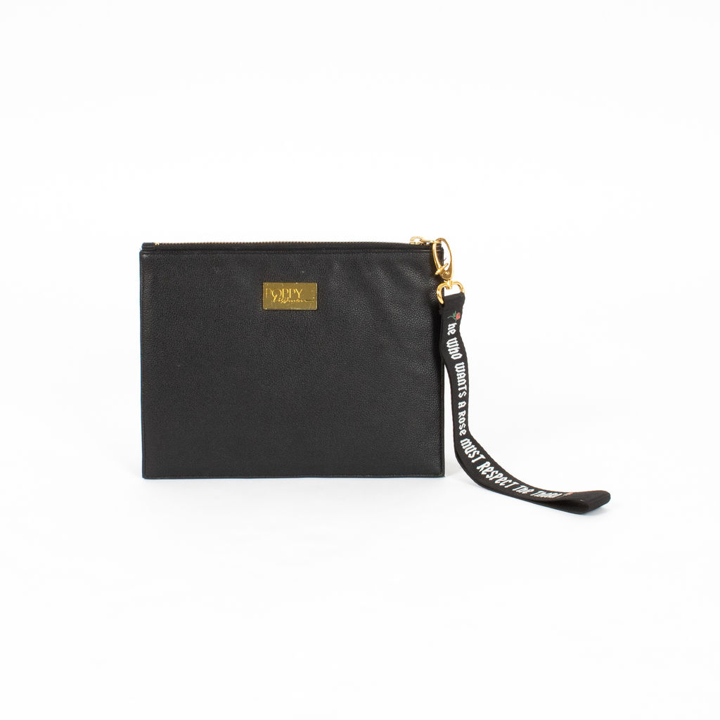 Poppy Lissiman Rose Faux Leather Clutch