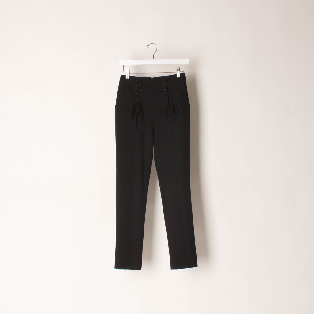Tibi Anson Lace Up Pants