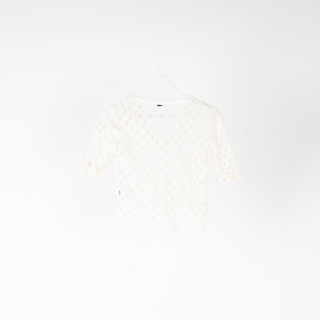 Sandro Open Weave Cropped Shirt
