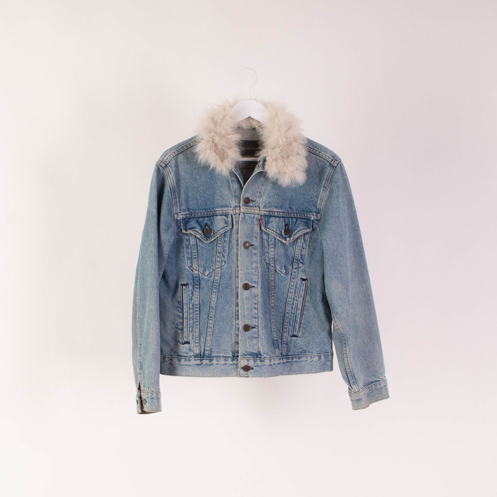 Vintage Levi's x Reformation Fur Trim Jacket
