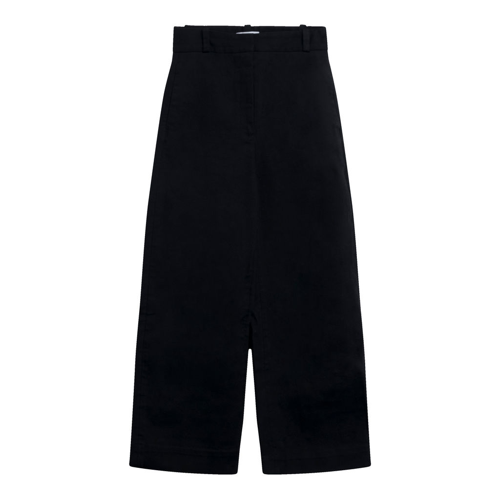 & Other Stories Stretch Cotton Culotte Trousers- Black