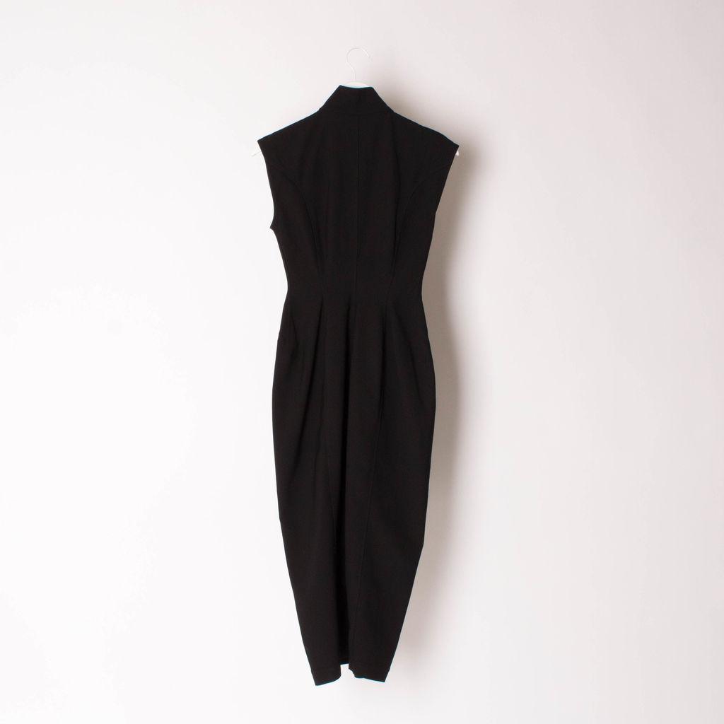 RICK OWENS Black Jaq Viscose-Blend Dress