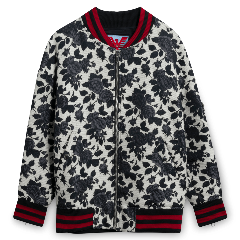 Adaptation Rose Jacquard Bomber Jacket