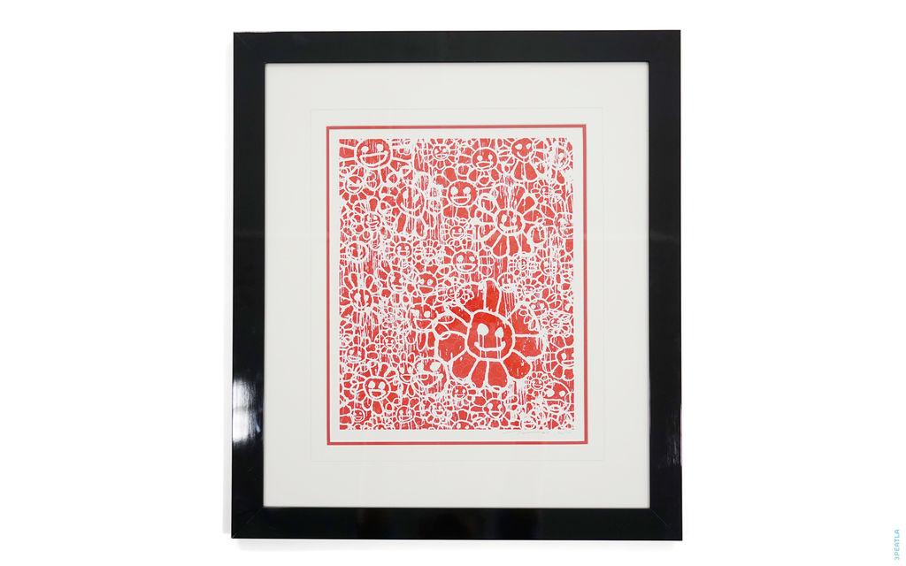 Takashi Murakami Flower Print Red