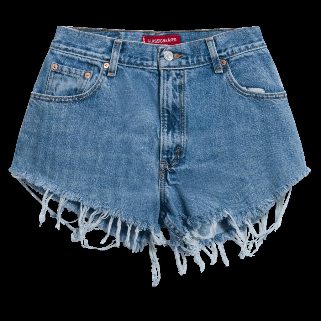 Levi's Vintage 550 Cut-Off Denim Shorts - Light Blue