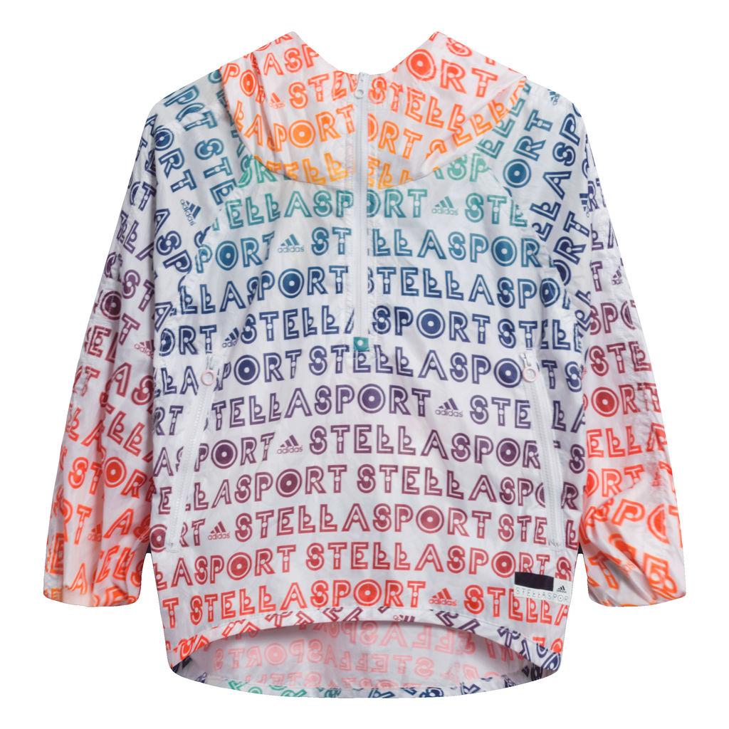 Adidas by Stella McCartney Cropped Rainbow Windbreaker Jacket
