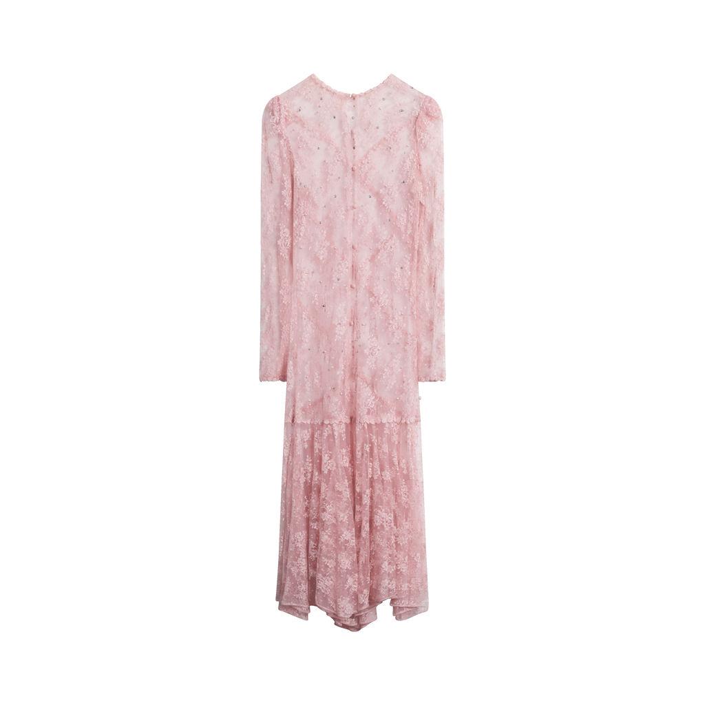Vintage Floral Lace Dress