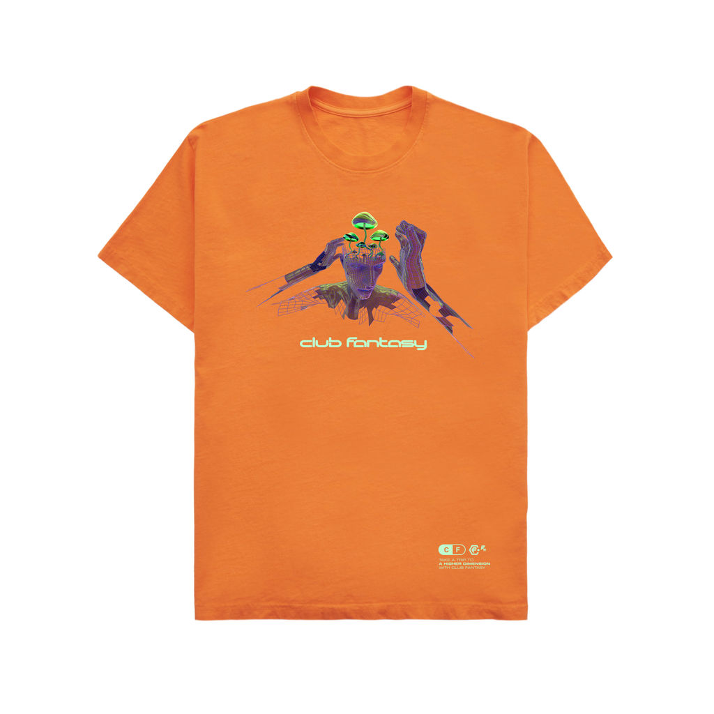 Club Fantasy Textbook Trip Tee in Orange