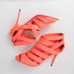 Jimmy Choo Damsen Neon Flame Sandals curated by Melina Matsoukas