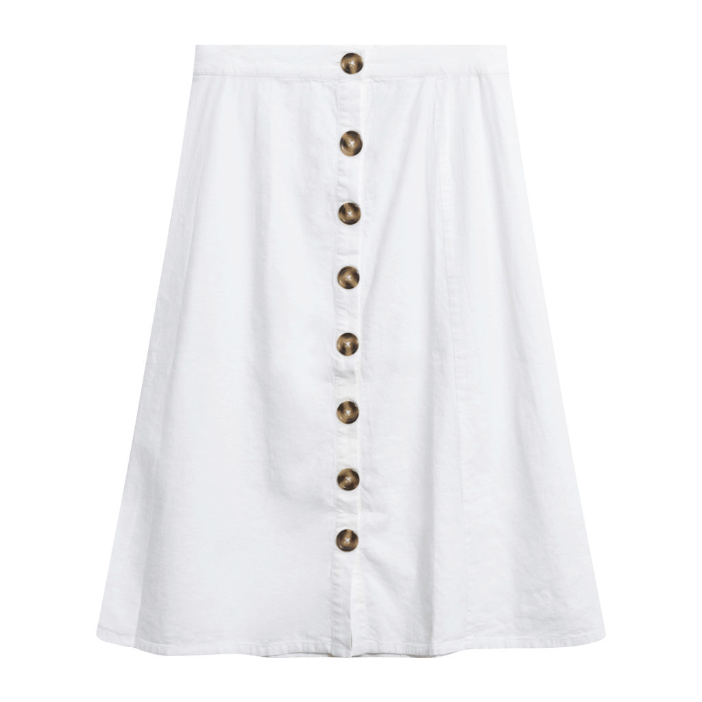 LPA Button Up Midi Skirt