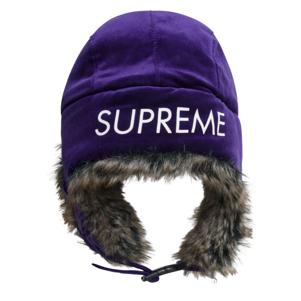 Supreme Velvet Polka Dot Trooper Hat