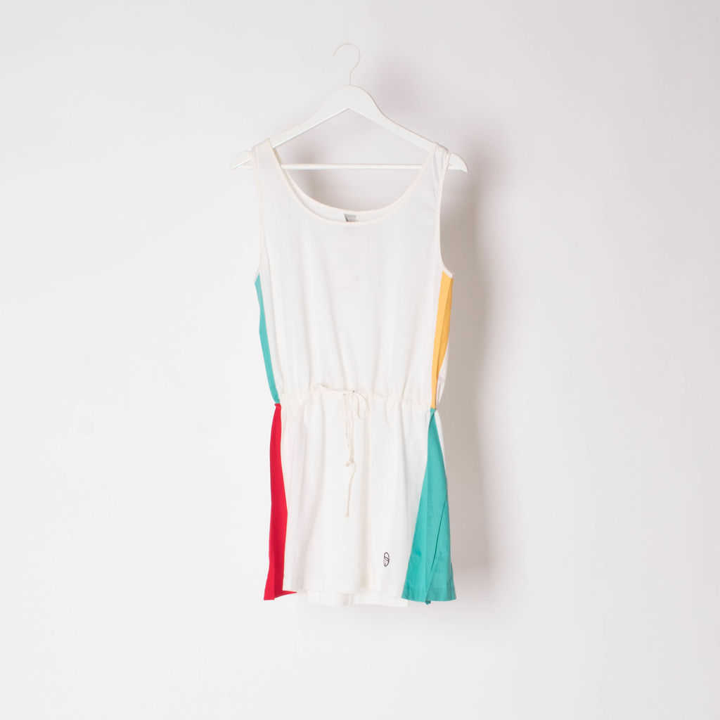 Vintage Sergio Tacchini Color Block Tennis Dress