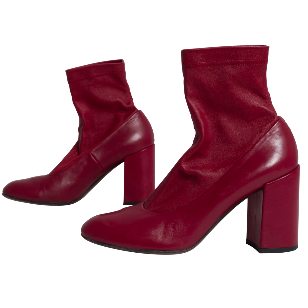 AGL Leather Bootleg Boot in Red Wine