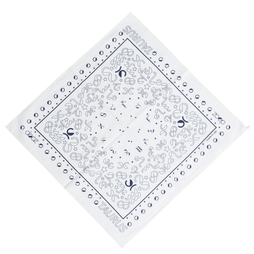 DOOZ Taurus Bandana + Keychain Set in White