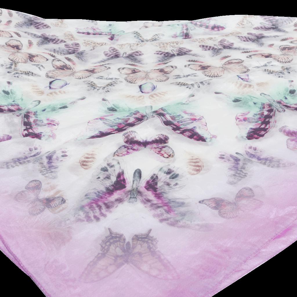 Vintage Silk Print Scarf - Butterflies