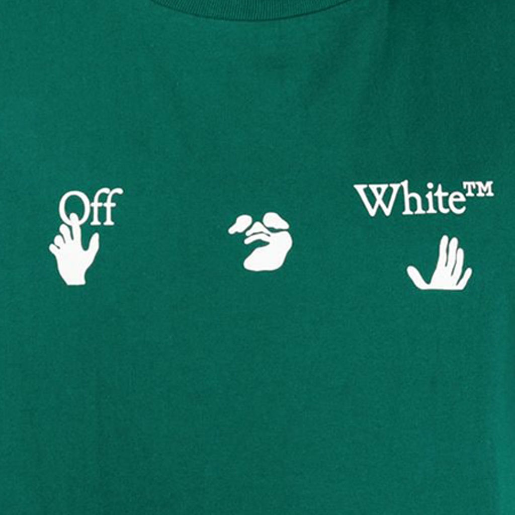 OFF-WHITE Green Big Logo T-Shirt