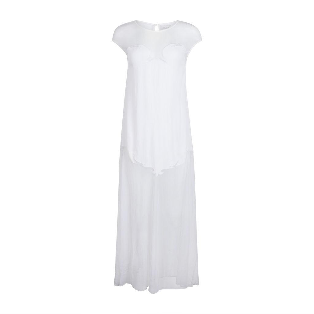 Shakuhachi White Mesh Maxi Dress