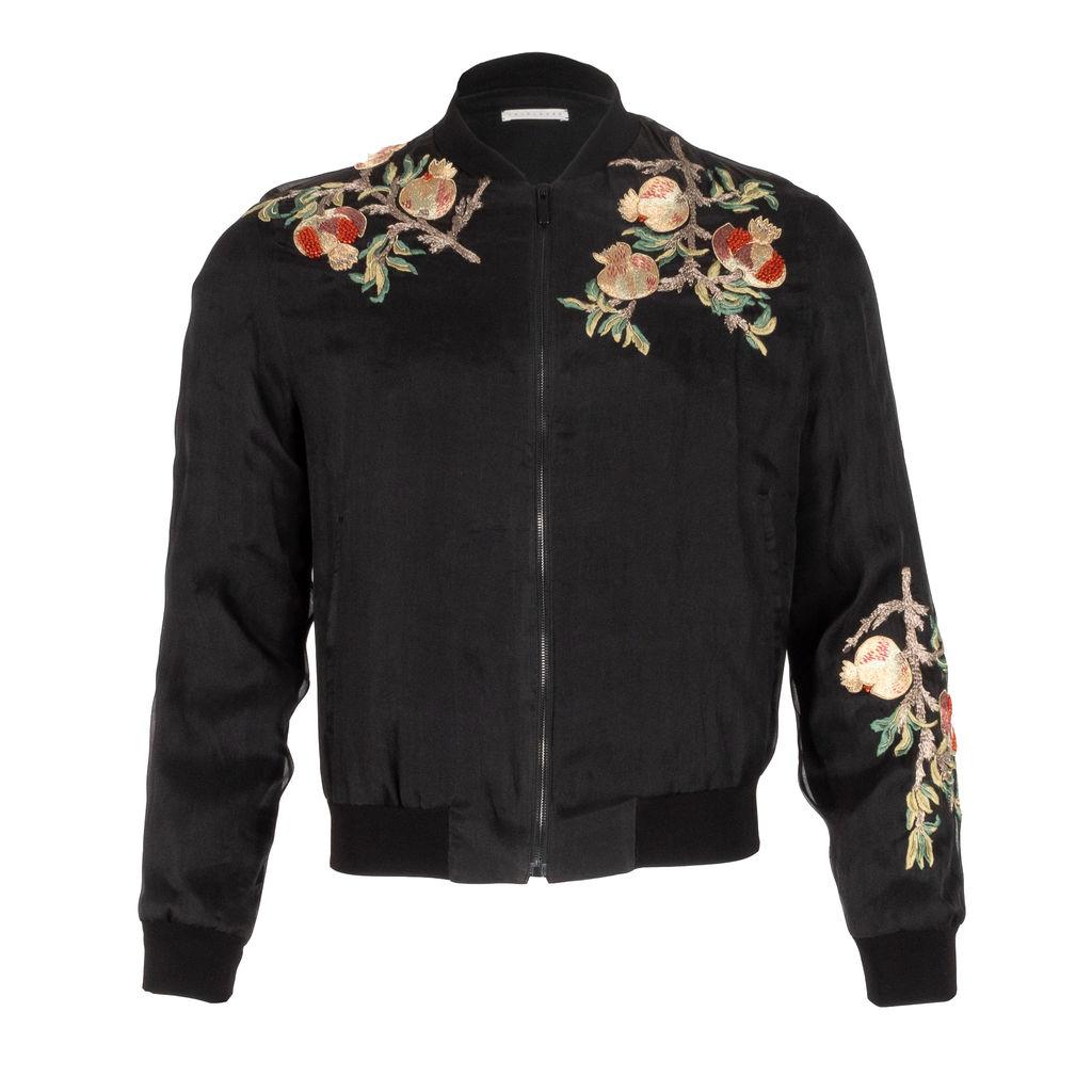 Triple Rrr Embroidered Chest Bomber Jacket