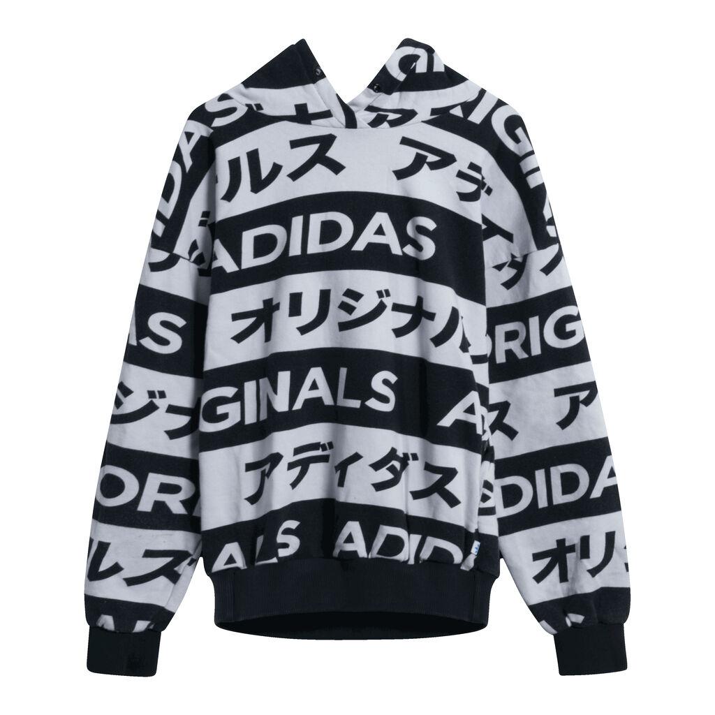 Adidas Japan Typo Aop Hoodie Black/White