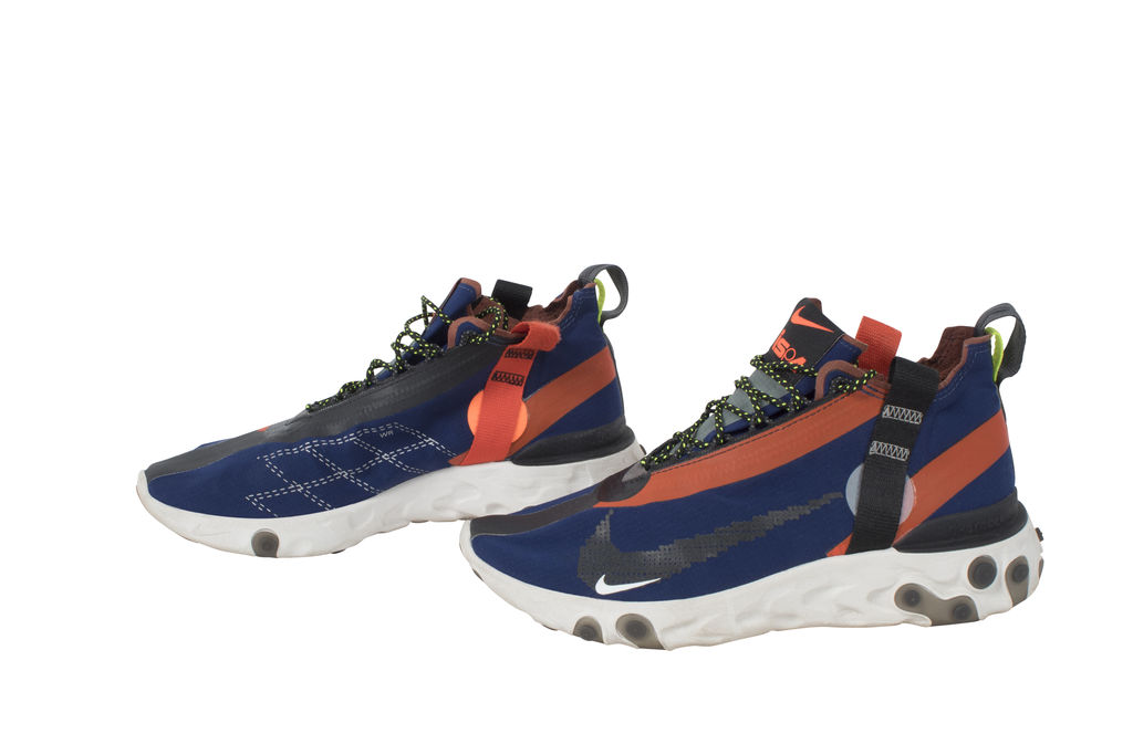 Nike Men's React Runner Mid WR ISPA Blue Void/Team Orange Synthetic