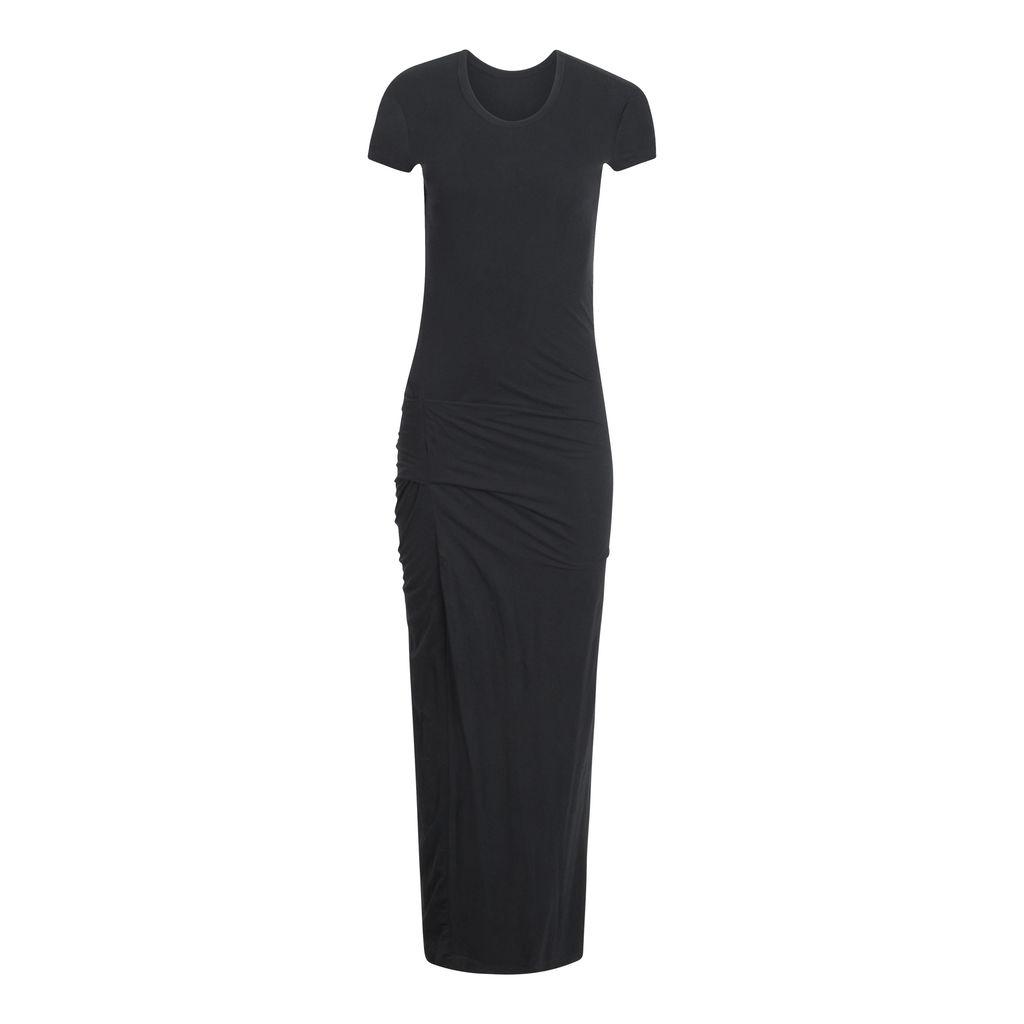 James Perse Draped Short Sleeve Maxi Dress
