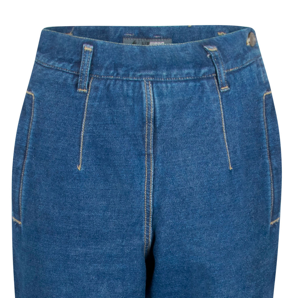 Lizwear High Waisted Denim Trousers