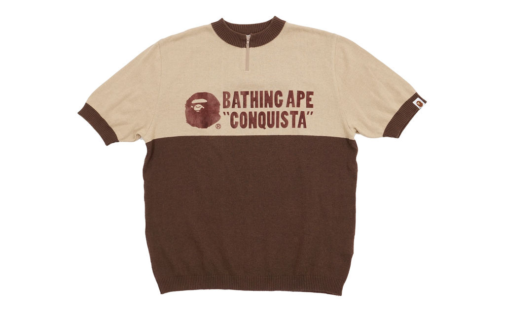 BAPE Two Tone Short Sleeve Cycles Sweater