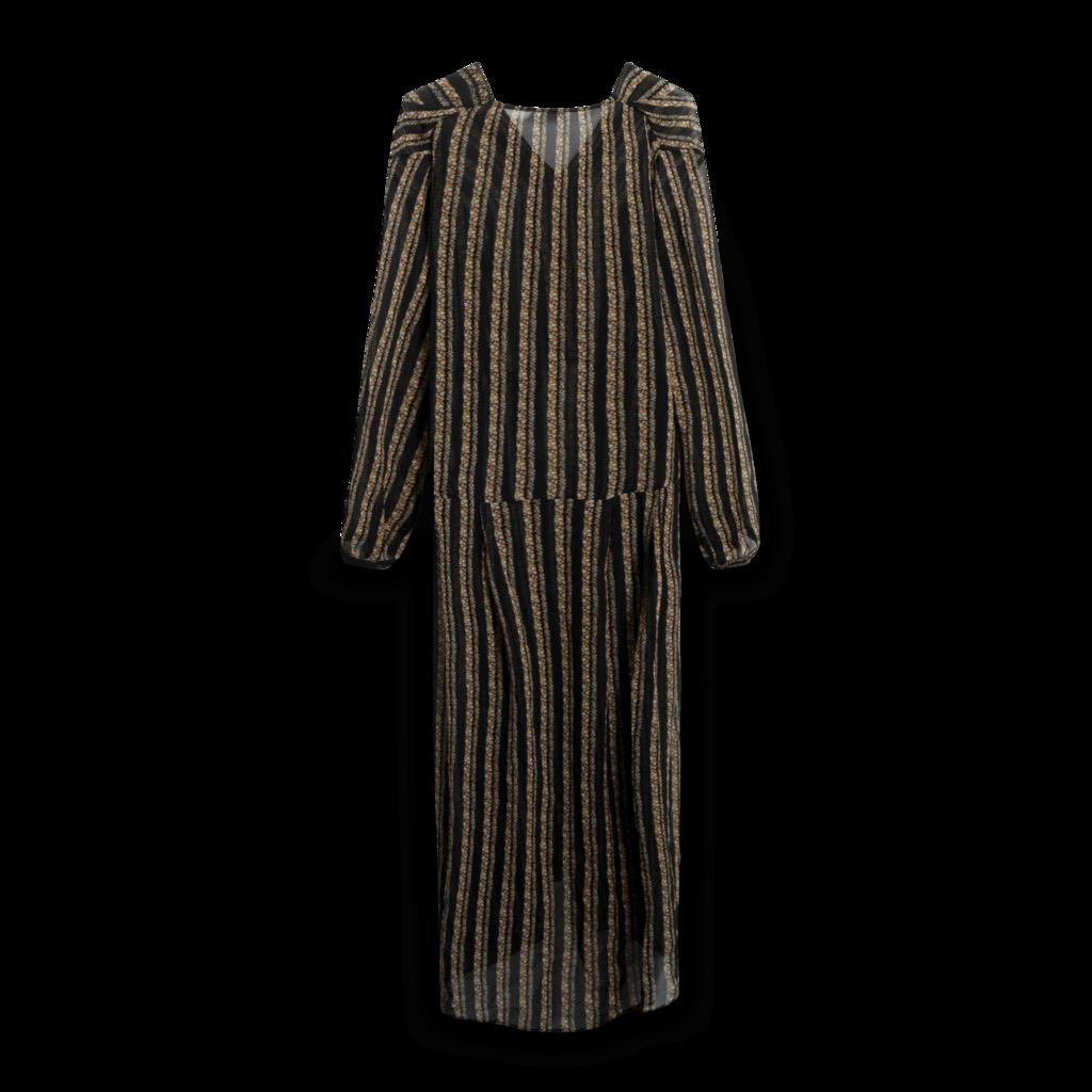 M.i.h. Jeans Black Floral Silk Maxi Dress