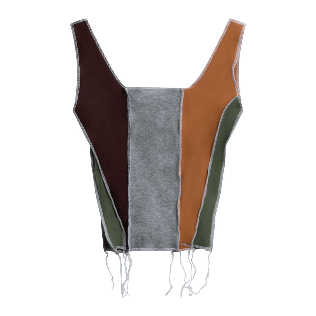 JJVintage Reworked Nike Tank in Grey/Green/Browns