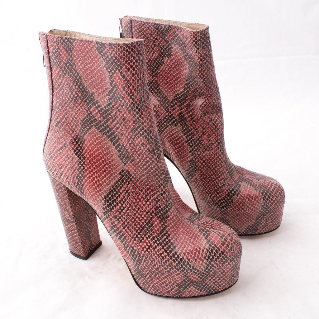 J. Lindeberg Patent Snake Plateau Boot