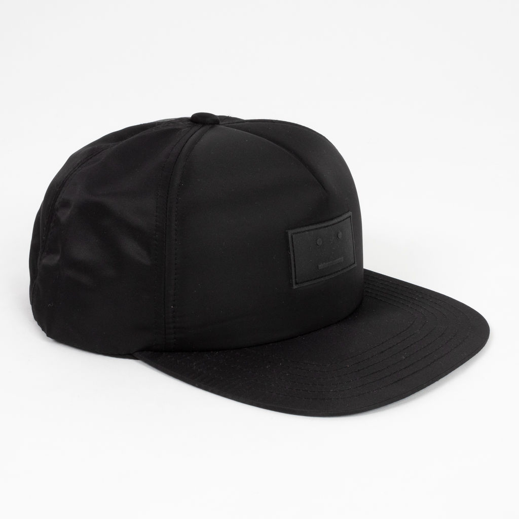 Acne Studios Covia Face Patch Snapback in Black