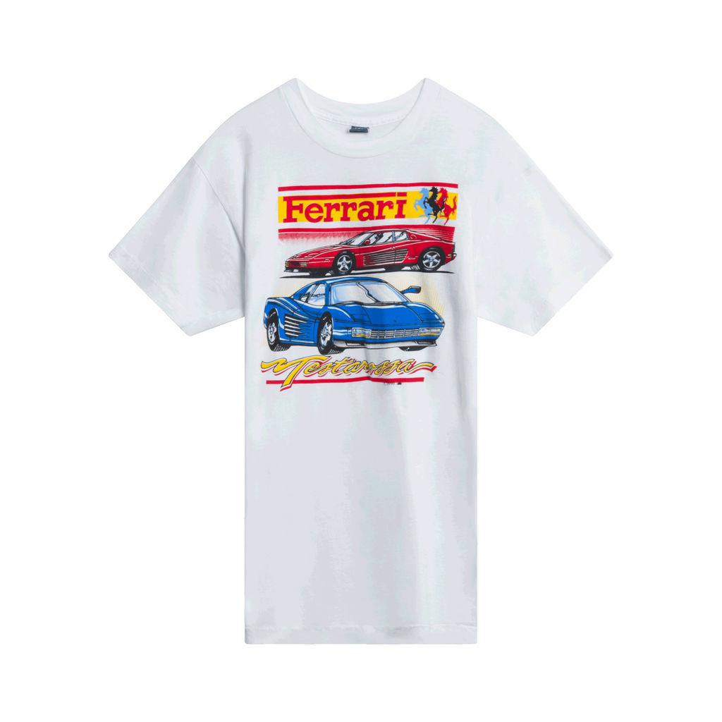 1990 Ferrari Testarossa T-Shirt (White)