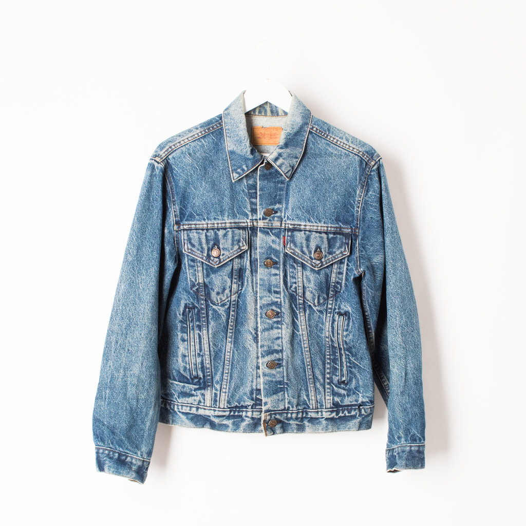 Customized Levi's Trucker Jacket with YSL Patch