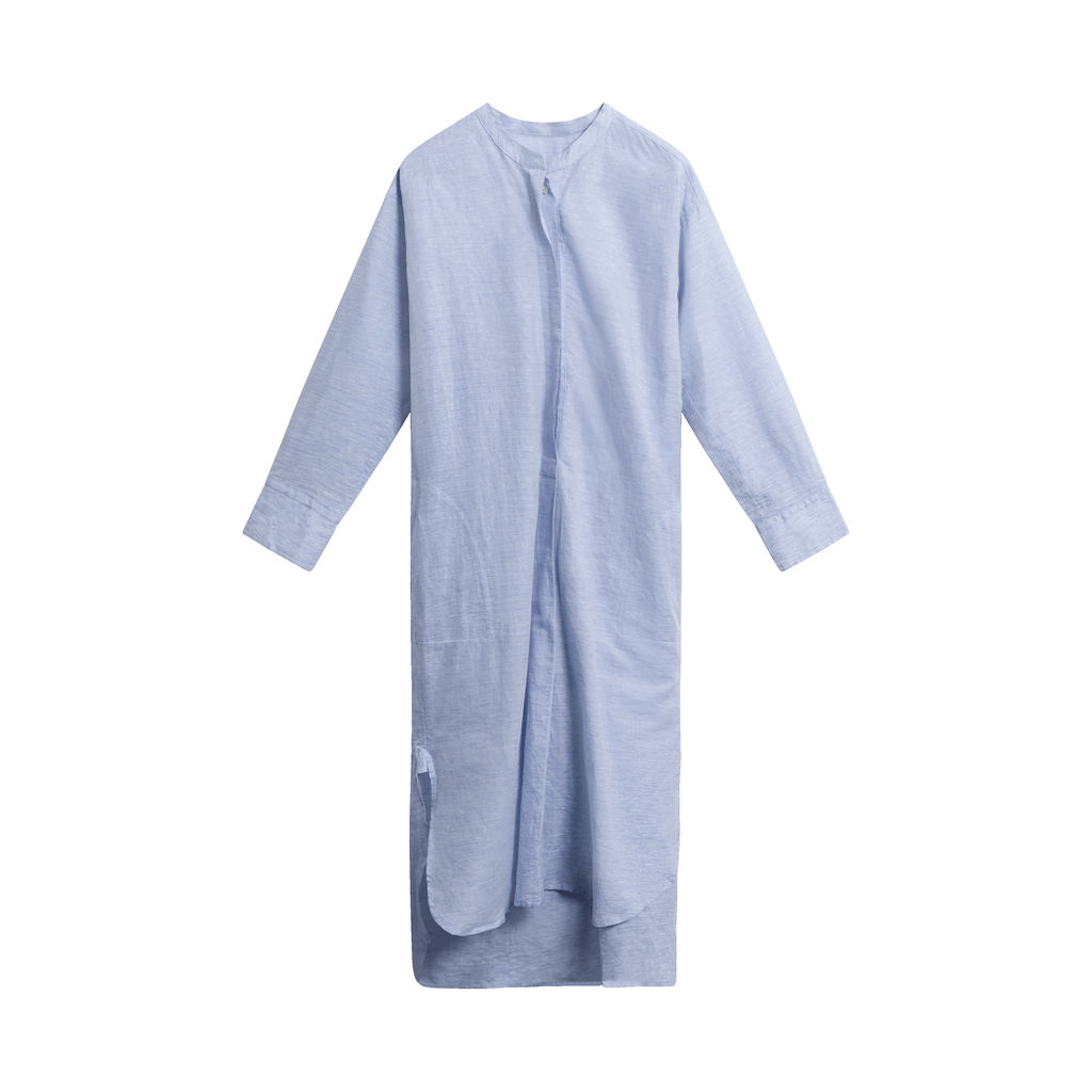 Vintage Studio Nicholson Long-sleeve Shirt Dress - Light Blue
