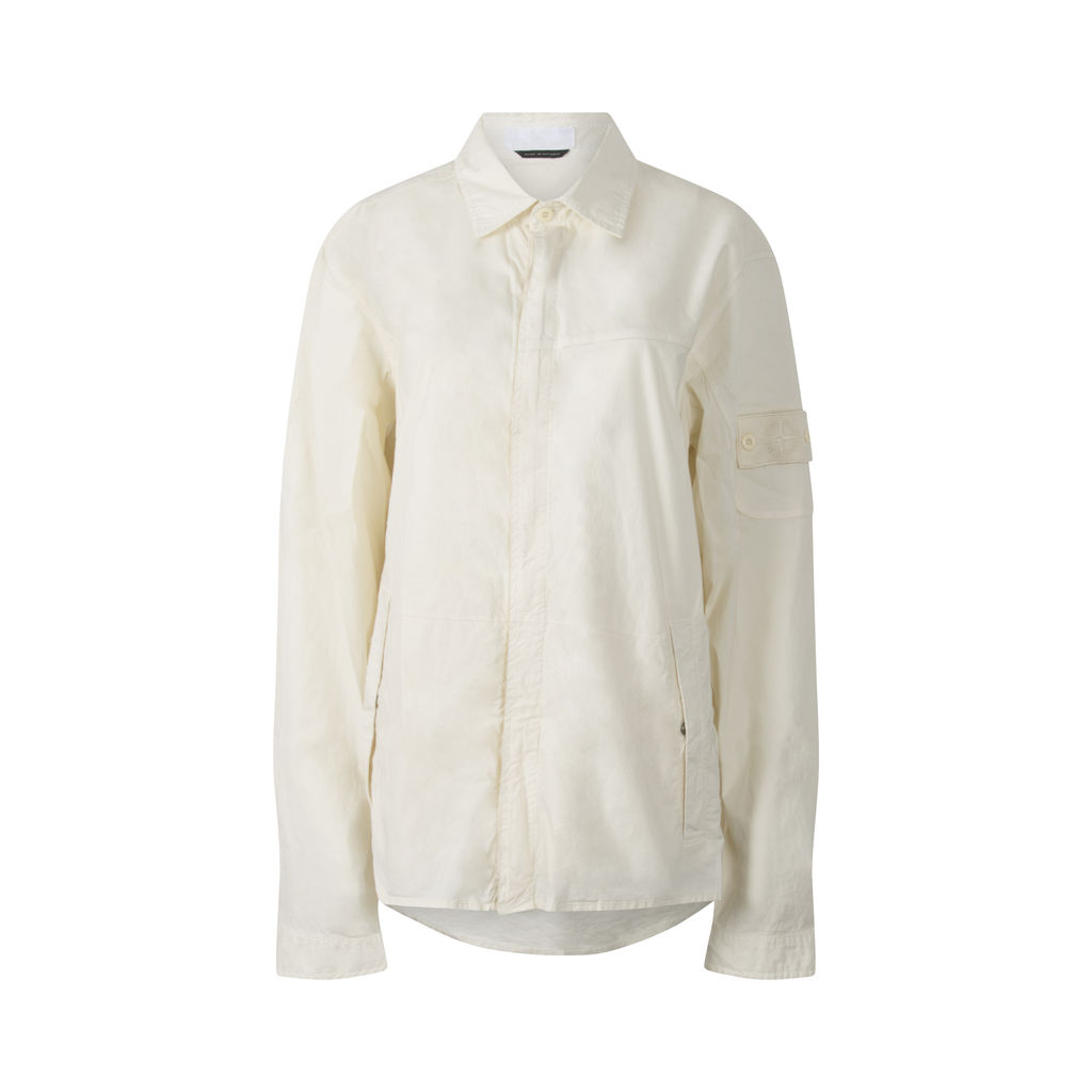 Stone Island Shirt Jacket in Bone