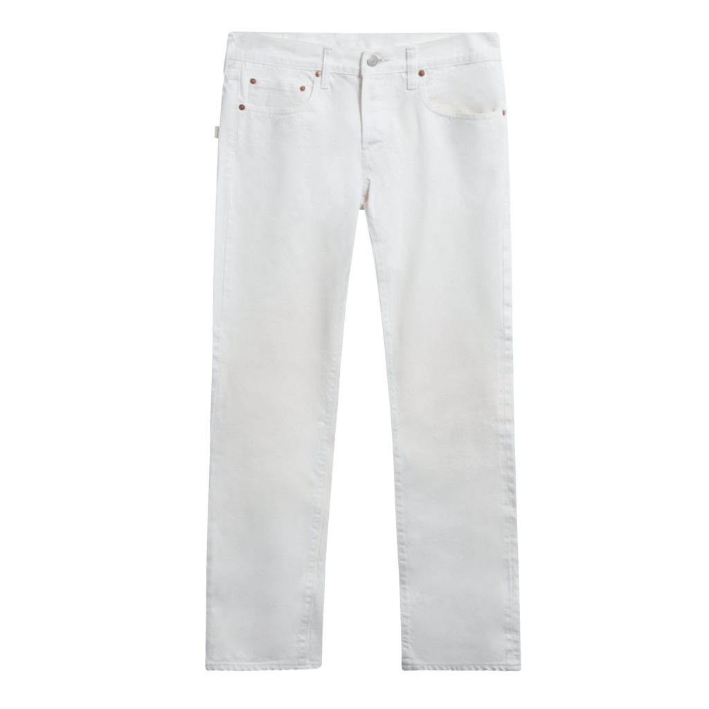 Free City Cotton Bootcut Jeans in White