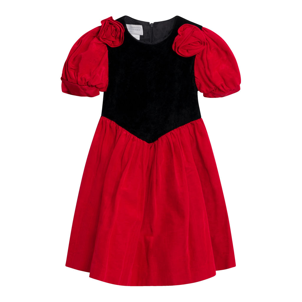 Vintage Gunne Sax Velvet Dress- Red